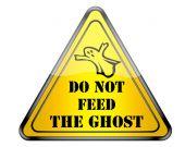 Ghost warning. — Stock Photo