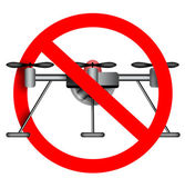 Drone use prohibited sign. — Stock Photo