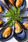 Mussels, food — Stock Photo