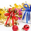 Christmas decorations background — Stock Photo #74550663