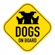 Dogs on board sign — Stock Photo #68933157