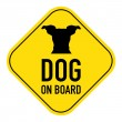 Dog on board sign — Stock Photo #68933185