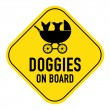 Dog on board sign — Stock Photo #68933203