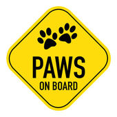 Paws on board sign — Stock Photo