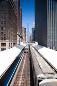 Famous elevated overhead commuter train — Foto de Stock