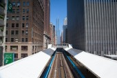 Famous elevated overhead commuter train — Foto Stock