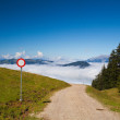 Mountain road in autumn landscape in Tirol Alps — Stock Photo #54101929