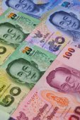 Different banknotes from Thailand  — Foto Stock