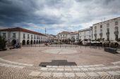 Renovated historic square in Tavira — Stock Photo
