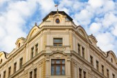 Renovated historic house in Prague — Stock Photo