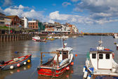 Bridlington is a smallish harbour — Stock Photo