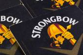 Beermats from Strongbow — Stock Photo