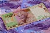 Different rupiah banknotes from Indonesia — Stok fotoğraf