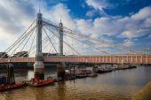 The Albert Bridge in London — Stock Photo