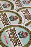 Beermats from Popper beer. — Stock Photo