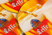 Beermats from Leffe Beer. — Stock Photo