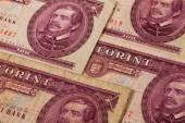 Old Hungarian  banknotes on the table — Stock Photo