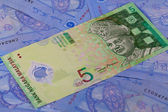 Different Ringgit banknotes from Malaysia — Stock Photo
