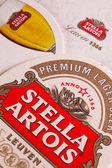 Beermats from Stella Artois. — Stock Photo