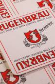 Beermats from Rugenbrau AG beer — Stock Photo
