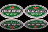 Beermats from Heineken Lager Beer — Stock Photo