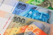Different Slovakian   banknotes from on the table — Stock Photo