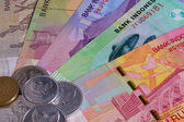 Different Indonesian rupiah on the table — 图库照片