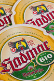 GERMANY,DRESDEN - September 20,2014:Beermats from Hadmar Beer. I — Stock Photo