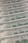 Detail of the same pattern of dollar bills  — Stock Photo