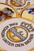 Beermats from Warsteiner beer — Stock Photo