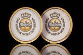 Beermats from Warsteiner beer. — Stock Photo