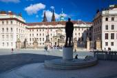 Monument of Tomas Garrique Masaryk on Hradcany Square. — Stock Photo