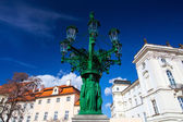 Historic Street lamp and Archbishop's Palace at the Castle Squar — Stock Photo