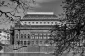 View on National Theatre over the Vltava River. — Stock Photo