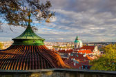 View from Paradise Garden near Prague Castle. — Stock Photo