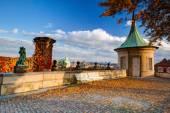 View from Paradise Garden near Prague Castle. — Stock Photo