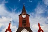 Wooden church in small villages, Czech Republic — Stock Photo