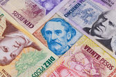 Various banknotes from Argentina  — Stock Photo