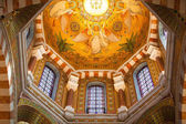 Interior in Catholic basilica Notre Dame De La Garde. — Stock Photo