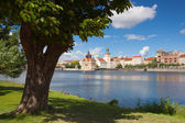 View from Strelecky island on Charles Bridge in Prague — Stock Photo