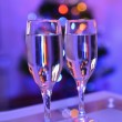 Сhampagne glasses at the Christmas — Stock Photo #64318175