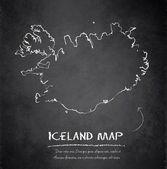 Исландия карта blackboard доске вектор — Cтоковый вектор