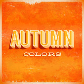 Autumn typographic grunge poster — Stock Vector
