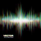 Shiny sound waveform — Stock Vector