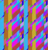 Flat colorful seamless pattern with skewed rectangles — 图库矢量图片