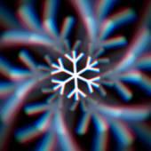 Floco de neve de natal turva assinar com aberrações — Vetorial Stock