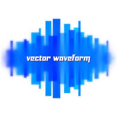 Blurred waveform made of lines — Stock Vector