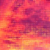 Sundown themed background with circular grid — ストックベクタ