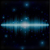 Mystic shiny sound sign in blurred space — Stock vektor