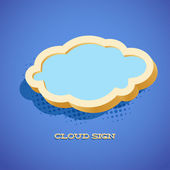 Retro card with cloud sign — Vetorial Stock